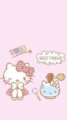 Hello Kitty Art, Hello Kitty Images, Hello Kitty My Melody, Sanrio Wallpaper, Hello Kitty Wallpaper, Kawaii Wallpaper, Cute Backgrounds, Cute Wallpapers, Phone Wallpapers