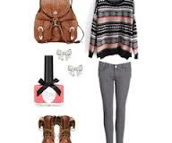 cute winter outfits for school polyvore - Google Search