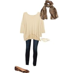 Love the oversized shirts/sweaters... and cute flats!  Love.  Cute with a high bun