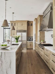 Home Decor Kitchen, New Kitchen, Home Kitchens, Sage Kitchen, Ranch Kitchen, Modern Kitchens, Kitchen Layout, Kitchen Ideas, Modern Kitchen Design