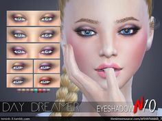 The Sims Resource: Day Dreamer Eyeshadow by tsminh_3 • Sims 4 Downloads