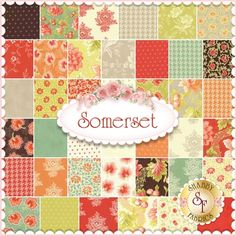 "Somerset by Fig Tree & Co. for Moda Fabric. 100% Cotton. This charm pack contains 42 squares, each measuring 5"" x 5""."