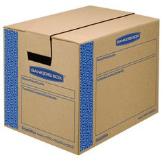 Bankers Box SmoothMove Prime Moving Boxes, Tape-Free and Fast-Fold Assembly, Small, 16 x 12 x 12 Inches, 15 Pack (0062711)
