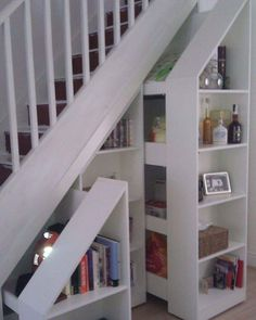 Bookcase Door Under Stairs . Bookcase Door Under Stairs . I Like Chalk Board Paint for Cubby Under Stairs Staircase Storage, Staircase Design, Modern Staircase, Storage Under Stairs, Bookcase Stairs, Under Staircase Ideas, Space Under Stairs, Bookcases, Under Stairs Pantry