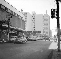 Avenida Paraná e o Cine Londrina nos anos 60
