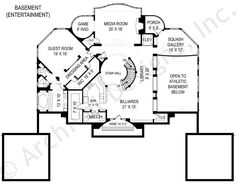 Villa Capri Basement Floor Plan