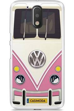 Dames telefoonhoesjes - Moto G4 Plus hoesje - Volkswagen bus roze Moto G4 Plus, Volkswagen Bus, Phone Cases, Phone Case