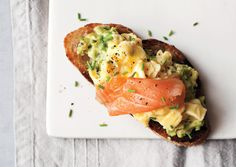 This open-face sandwich makes a great meal or snack morning, noon, or night.