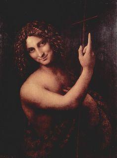 Leonardo da Vinci - Salai as John the Baptist (Louvre)