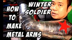 How To Do it Yourself tutorial video on how to make a Winter Soldier metal arm on the cheap and easy