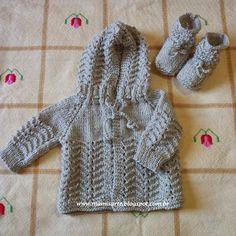 Crochet et Tricot da Mamis: Casaquinhos com Capuz em Tricot para Bebê - Receitas