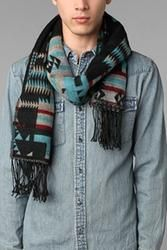 Sante Fe Blanket Scarf - Black   $29.00