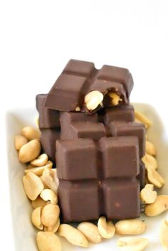 Vegan Mr. Goodbars. Made with 2 easy ingredients!