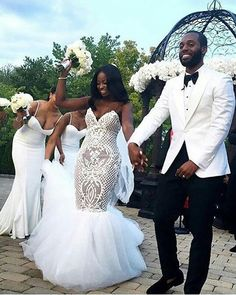 2018 Plus Size Mermaid Wedding Gowns Sweep Train Sweetheart Tulle Applique Country Bridal Dress With Backless Cheap Wedding Dress Dream Wedding Dresses, Wedding Suits, Wedding Gowns, Diamond Wedding Dress, Wedding Attire, African American Weddings, Black Bride, Mermaid Wedding, Wedding Bells