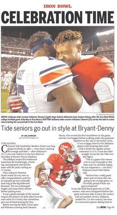 Iron Bowl 2016 Headlines from Sunday Nov. 27, 2016 - The Dothan Eagle - Alabama 30 Auburn 12 #IronBowl #Alabama #RollTide #Bama #BuiltByBama #RTR #CrimsonTide #RammerJammer