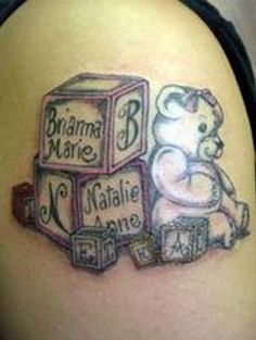 Baby blocks tattoo