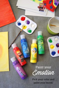 paint with your emotions! label appropriate colours with each emotion and have your kid choose what colour they want to paint depending on how they feel today. talk about what made them happy or help them cope with their fear or anger while they paint. Social Emotional Activities, Counseling Activities, School Counseling, Preschool Activities, Elementary Counseling, Teaching Tips, Teaching Art, Learning Through Play, Kids Learning