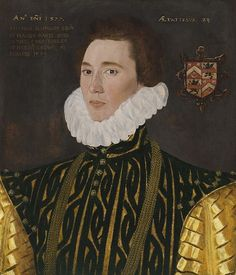 1577,Thomas Slingsby (1556-1579), eldest son of Francis Slingsby and his wife Mary Percy,sister of Thomas Percy, 7th Earl of Northumberland,Henry Percy,8th Earl of Northumberland.The sitter was drowned aged 23.60.3 × 50.8 cm.George Gower  (1540-1596)With Sotheby's, London,2012.