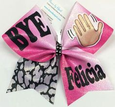 Bows by April - BYE Felicia Hot Pink Ombré Gltter Cheer Bow, $15.00 (http://www.bowsbyapril.com/bye-felicia-hot-pink-ombre-gltter-cheer-bow/)