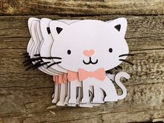 Kitten Cat Die Cuts Cat Party Kitten Party by BlueOakCreations