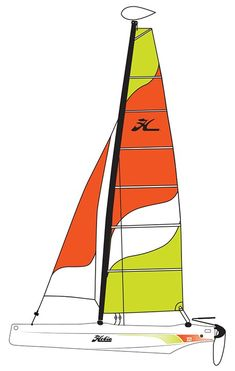Hobie Class Catamaran Sailboat The is the benchmark boat for performance rotomolded sailing. With its two-layer rotomolded polyethylene hulls, the is the ideal boat to sail with the family, among friends or in clubs. Catamaran, Family Leisure, Kayaks, Innovation Design, Sailboat, Boats, Sailing, Friends, School