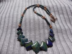 Lapis Chrysocolla necklace (Lima Beads Design Gallery)