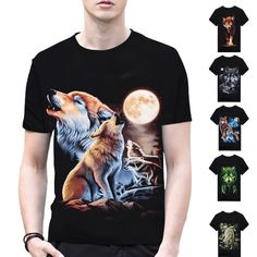 034862b76e9ed 2017 Brand Clothing Wolf Anime 3D Print Stars T Shirt Men Shirts Black  Blouse Dark Souls Punisher Sale Items O neck T shirts A2-in T-Shirts from  Men s ...
