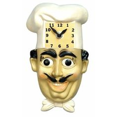 1950's Chef Kitchen Clock...my Grandma had this in her kitchen!