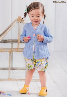 The Adventure Begins, Spring 2017: Little One Cardigan and Blowing Bubbles Romper