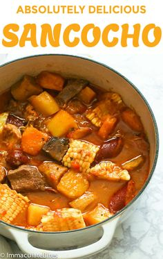 Sancocho Sancocho Sancocho Recipe A Hearty And Absolutely Delicious Stew Made With Meat Vegetables And Tubers A Very Satisfying Meal On Its Own Perfect For This Fall Season Sancocho Recipe Stew Comfortfood Dinner Puertoricanfood Easy Recipes Boricua Recipes, Comida Boricua, Mexican Food Recipes, Beef Recipes, Soup Recipes, Easy Recipes, Cooking Recipes, Healthy Recipes, Dominican Food Recipes