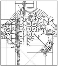 Frank Lloyd Wright Stained Glass Windows, Coloring Books Pages