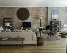 mixed mediums against exposed brick