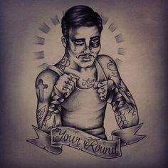 By anem #tattoodesign #oldschooltattoo  #ink #boxertattoo