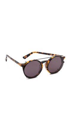 Wonderland Stateline Leather Sunglasses   SHOPBOP