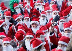 VisitScotland: Edinburgh Santa Fun Run & Walk 2015 on 13 December 2015