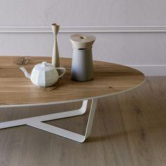 Table basse en acier enduit de poudre BINO | Table basse ovale - Miniforms