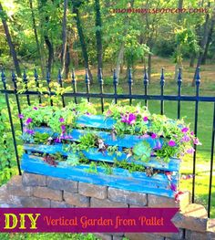 mommy is coo coo: Make a Vertical Garden from a Pallet. I like the smaller version than the large one...