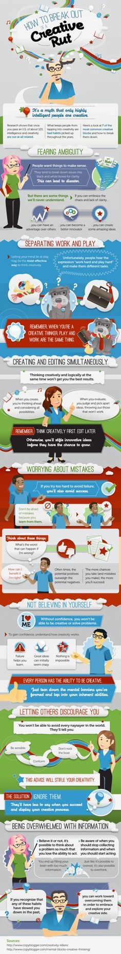 7 Quick Tips To Be More Creative - #Infographic - Epreneur TV - Pinned by #borntobesocial, France
