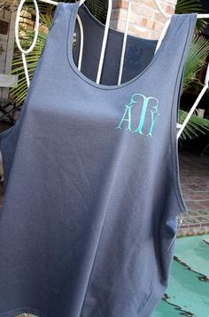 Monogrammed Tank Top for Ladies Personalized by Blumers Embroidery, $18.00