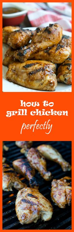 The best grilled chicken! It's pre-cooked in the oven and never ends up being dry.
