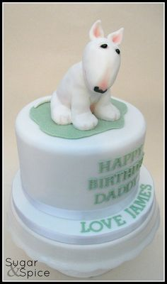 English Bull Terrier - by Sugargourmande1 @ CakesDecor.com - cake decorating website