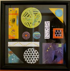OOAK warm color abstract enamel collage in by AtkinsGlassandCanes
