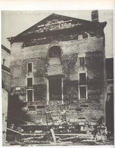 La Curia EX CHIESA DI S.ADRIANO appena liberata dal terrapieno di detriti 1874