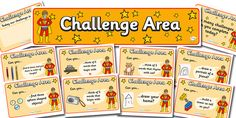 Twinkl Resources >> Challenge Area Pack- Superheroes >> Classroom printables for Pre-School Kindergarten Elementary School and beyond! Year 1 Classroom, Superhero Classroom, Classroom Themes, Organization And Management, Classroom Management, School Fun, Pre School, Writing Challenge, Classroom Displays