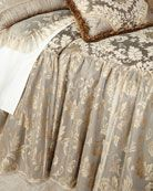 Shop King Elegance Skirted Coverlet from Dian Austin Couture Home at Horchow, where you'll find new lower shipping on hundreds of home furnishings and gifts. Bedding Sets Online, Luxury Bedding Sets, Comforter Sets, King Comforter, Damask Bedding, Linen Bedding, Bed Linens, Bedding Websites, Bed Duvet Covers