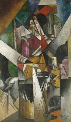 Woman with animals (1914) by Albert Gleizes (French, b.1881 d.1953)