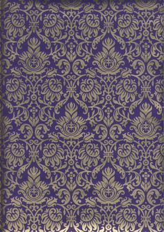 Purple-Gold # 94 Wrapping Paper - just 4 sheets left