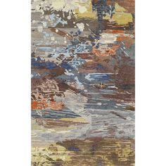 Abstract Color Expressions Hand Tufted Rug multicolored