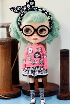 Sugarbabylove Pink Top set for Blythe by SugarbabyloveDoll