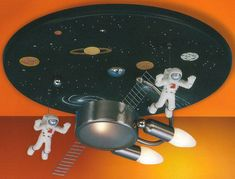 space themed ceiling light